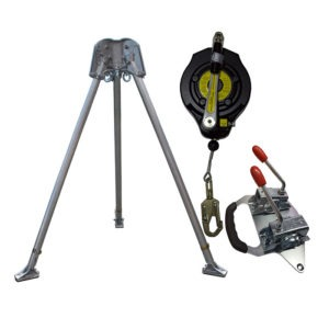 ABTECH SAFETY CONFINED SPACE KIT WITH 15M FALL ARREST WINCH TRIPOD KIT – CST1KIT